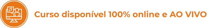 Curso disponível 100% online e AO VIVO